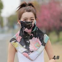 DHL GEMİ Bayan Eşarp Güneş Koruyucu Yüz Maskesi şifon Güneşlik Boyun Güneş kremi Ücretsiz Kargo Açık Sürüş Bisiklet Maskeleri