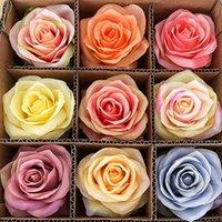 29Colors 10cm 인공 꽃 장미 꽃 머리 웨딩 파티 장식 가짜 꽃 홈 장식 HHA1450 용품