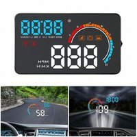 العالمي HUB السيارات OBD2 / GPS رئيس متابعة العرض الأمامي السيارات سرعة العارض سيارة الإنتقال OBD عداد السرعة هود D2500 0QQR #