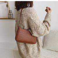 ABER motif crocodile rétro sacs de messager d'épaule pour les femmes Ladies Vintage Casual Handbags Sacs à bandoulière solide nouveau sac bandoulière