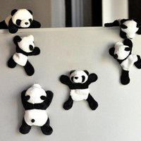 4PCS الكرتون لطيف لينة القطيفة الباندا مغناطيس الثلاجة ثلاجة ملصقا لصائق هدية تذكارية ديكور المنزل مكملات مطابخ