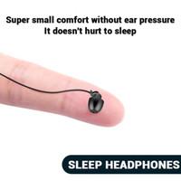 잠자는 이어폰 소음 전화 PC 게임을위한 이어폰을 취소 마이크 3.5mm의와 이어폰 부드러운 실리콘 헤드셋 경량 이어폰