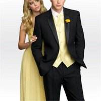 Veiai Erkekler Suit Üç Parçalı İş Erkekler Çentikli Yaka Trim Fit Custom Made Düğün Damat smokin Suits (Ceket + Pantolon + Yelek)