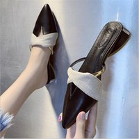 Gelin Sivri Burun Terlik Desiger Sandalet Kadınlar Moda Ayakkabı Gerçek Fotoğraf Bayanlar Düşük Topuk Slaytlar Düğün için