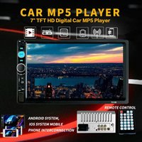 "2 din Car Radio 7"" HD Autoradio Multimedia Player 2DIN Touch Screen Auto audio Car Stereo MP5 Bluetooth USB TF FM Camera L13F#"