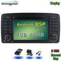 5 USB Android 9.0 Car DVD Player per Multimedi R Class W251 / R280 / R300 / R320 / R350 / R500 GPS Radio Stereo WIFI NILP #