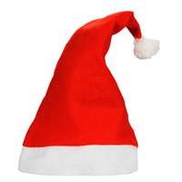 الأحمر سانتا كلوز هات الترا لينة القطيفة تأثيري عيد الميلاد القبعات عيد الميلاد الديكور الكبار حفلة عيد الميلاد القبعات DH0327