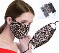 ABD STOK! Leopar baskı Desen Tasarımcısı Yüz 5 Katman Filtre Yıkanabilir Koruyucu Pamuk Yüz Moda Kumaş Ağız Maskesi fy0038 Maskesi