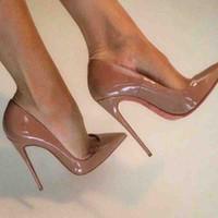 Klasik Adı Markalar Kadın Ayakkabı So-Kate Kırmızı Taban Yüksek Topuklar Pigalle hakiki rugan Sexy Lady Düğün Elbise Topuklar pompa