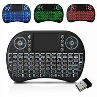 I8 Wireless Keyboard Backlight 3 Cores 2.4G Mouse de Air Teclado Controle Remoto Touchpad Bateria de Lítio Recarregável para Android TV Box