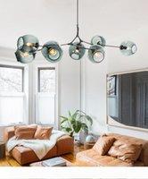 Nordic Sanat LED Cam Kolye Lambaları Lindsey Adelman Avize Mutfak Sihirli Fasulye Ağaç Dalı Süspansiyon İç Aydınlatma Armatürleri