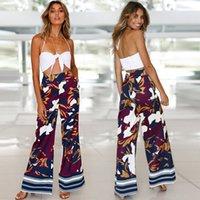 2020 새로운 의류 저렴한 중국 도매 유럽과 미국의 여성 바지 카프리 인쇄 위장 넓은 다리 바지 여성의 높은 허리