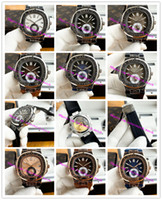 Najnowsza wersja Moda Boutique Mens Retro Watch Carved Wezel Casual Zegarki 316L W pełni automatyczny mechaniczny gumowy pasek 42mm Zegarek męski