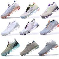 vapormax 2019 Flyknit 2.0 running shoes 실행 신발 배 블랙 멀티 컬러 CNY 선인장 자정 해군 남성 여성 스니커즈 36-45 순수 Platinu 화이트 먼지