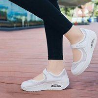 Sneakers women shoes fashion mesh lightweight solid color ca...