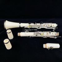 Die neue First-Class-G-Taste Klarinette Ebenholz weiß versilberte Schlüssel Gutes Material und Ton mit Fall-freiem Verschiffen