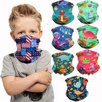 US-Stock-Kinder-Gesichtsmaske für Kinder Junge Mädchen Schutz Maske Outdoor Radsport magischen Schal Bandana Stirnband Bandanas Turban