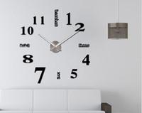 2020 venta caliente Gz205 creativo espejo digital de acrílico del reloj de pared de DIY 3D sencillo y moderno colgante reloj clockimagen palillo de la pared