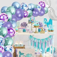 30 50 100pcs 10inch Chrome Metallic Mermaid Latex Balloons M...