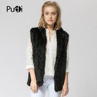 VT802 16 colori donna ragazza vera pelliccia di coniglio gilet primavera giacca invernale caldo cappotto di pelliccia genuino del coniglio maglia giubbotto beige nero