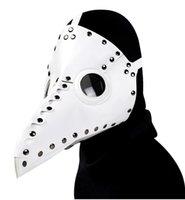 2020 Chegada Nova alta qualidade venda quente Halloween couro branco com picos Popular Steampunk praga bico Máscara Máscara Prom Party