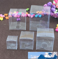 Effacer le bateau libre de carrés en plastique PVC transparent étanche Boîtes Boîte cadeau en PVC étuis de transport Emballage Boîte pour bijoux / bonbons / jouets / Gâteau