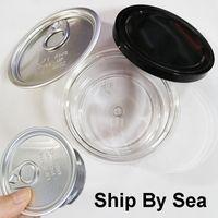 3,5 g 100 ml burkar barnsäker torr örtblomma klar plast kan matkvalitet blomma förpackning fall Ring drag fliken tomma burkar frakt till sjöss