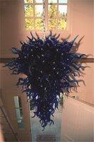Vendita calda di luci a sospensione in vetro di Murano Bella Big decorazione dell'hotel per le lampade Dale Chihuly Italia Stile Lampadari blu