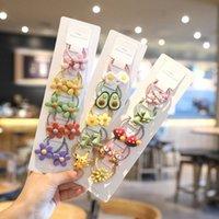 3 / 10PCS bonito dinossauro Fruit Princesa Headwear Bandas dos desenhos animados filhos Cabelo Elastic Crianças Ropes Meninas Acessórios bebê mantilha Xwqu #