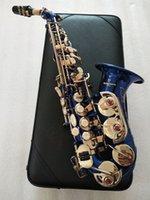 Japonya YAGISAWA S-991 Yüksek Kaliteli Yeni Mavi Anahtar Kavisli Soprano Enstrüman BB Müzik Soprano Saksafon Profesyonel Kılıf