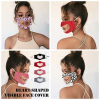 Heart shaped Visible Face cover deaf mute Dustproof lip language Face Masks Breathable Adult Protective Mask YYA339