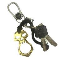 الجمجمة سلسلة المفاتيح الطوارئ الهروب كسر سلسلة مفتاح النافذة أداة دفاع عن النفس الحلي في الهواء الطلق بقاء سلسلة مفتاح حزب صالح GGA3564