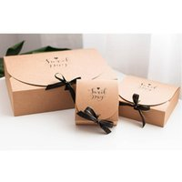 Materiali 1pc Creativo semplice stile marmo regalo creativo della carta kraft fai da te sacchetto regalo Candy box kawaii partito