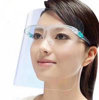 Protetor facial de proteção com vidros anti nevoeiro Full Face de proteção transparente de segurança Espirro Gotas Máscaras 100pcs OOA8184