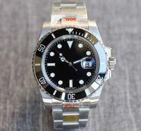 남자 시계 N V10 904L 116610LN ETA 2836 자동 시계 블랙 그린 세라믹 프레임 발광 방수 50 ATM 시계 DHL 무료 배송