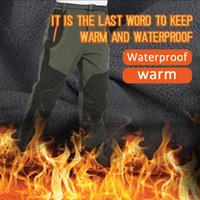 2020 neue Art-im Freien wandernden Hosen Männer Warm Thin Softshell Trousers Patchwork windundurchlässige wasserdichte Sport-lange Hosen