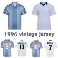 1996 Gascoigne Shearer Retro Jersey McManaman Southgate Clássico Vintage Sheringham 96 98 Home Away Beckham Football Shirt