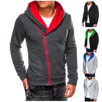 Zipper Cardigan Menshoodies-starke lange Hülsen-Kontrast-Farben-Männer Sport-Sweatshirts lose beiläufige Mann Designer Kleidung