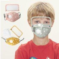 Kinder Kinder Designer Maske Removable-Augen-Schild mit Atemventil mehrfachverwendbare waschbare Schutzstaubdichtes Earloop Baumwolle Masken FY9146