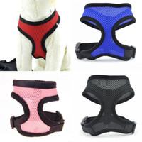 Courroie de sécurité respirante réglable Mah Pet Chien Vest Harness Cat Sangles Animaux Chien Accessoires Para Mascotas Chiot Vêtements 2 6Hx B2