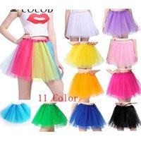 Jupes mode adulte tutu jupe dancewear taille élastique femme mini tulle 3 couches princesse jupon