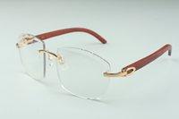 vendita diretta più recente di fascia alta dell'obiettivo di taglio fotocromatiche occhiali da sole 4.189.706-A originale naturale bastoni di legno, dimensioni: 58-18-135 mm