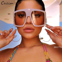 2020 más nuevo Diseño Marco grande de gran tamaño gafas de sol de las mujeres grandes de Flat Top Gafas de sol de moda de la plaza Gradiente ShadesDR27723
