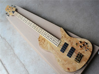 Factory custom 4 strings Maple Fingerboard Neck- thru- body, Tr...
