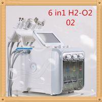 US6 في 1 Hydrafacial Dermabrasion آلة الأكسجين الماء النفاث قشر هيدرا الجلد الغسيل الوجه جمال الوجه العميق التطهير RF الوجه رفع المطرقة الباردة