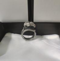 Anello reale dell'anello reale di serpente tridimensionale dell'anello tridimensionale di alta qualità dell'argento sterling in argento sterling 925 di alta qualità
