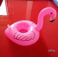Toptan-Havuz Float Eğlence Flamingo Şişme Havuz Oyuncak ve Havuz için Kupa Tutucu Büyük Banyo saati İçecek Tutucu ve Dekorasyon partileri