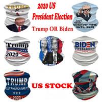 US Stock, 2020 Presidentval Biden / Trump Magic Sports Masks Bandana Skall Scarf 3D Print Masks DHL Shipping