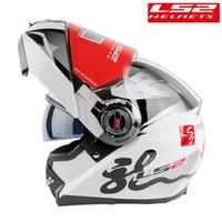 LS2 FF370 Modual Helm Motorrad Mit sonnigem Doppelobjektiv für einen Mann einer Frau Rennen capacete moto filp up Motorrad casco moto