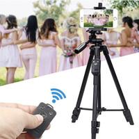 Селфи Видео Yunteng VCT 5208 Алюминиевый штатив с 3-Way Head Bluetooth пульт дистанционного управления для камеры телефона Держатель клип селфи палочке штатив